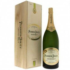 JEROBOAM - CHAMPAGNE PERRIER JOUËT - GRAND BRUT - CAISSE BOIS (France - Champagne - Champagne AOC - Champagne Blanc - 3 L)