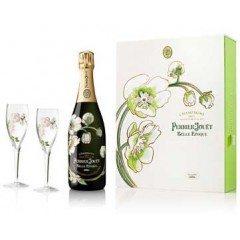 CHAMPAGNE PERRIER JOUËT - BELLE EPOQUE COFFRET 2 FLUTES 2006 (France - Champagne - Champagne AOC - Champagne Blanc - 0,75 L)
